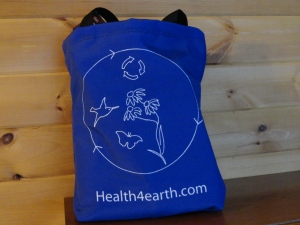 Shopping bags made from recycled plasstic