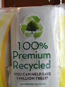 Purchasing recycled products saves raw materials