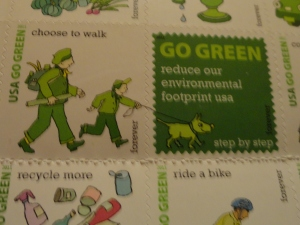 Love these Go Green Forever stamps