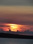 August sunset in a murky sky