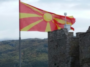 The Macedonian flag