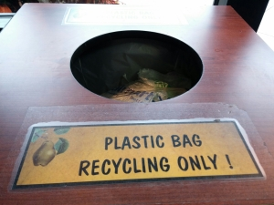 Please recycle plastic bags at grocery stores!