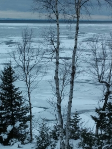 Ice on Lake Superior doesn't last long.